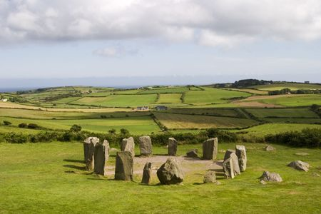 Ancient Celtic stone circle in Ireland