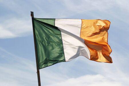 Irish flag waving in the wind Stock Photo - 536719
