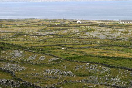 aran: Irish rock walls on the Aran Islands.
