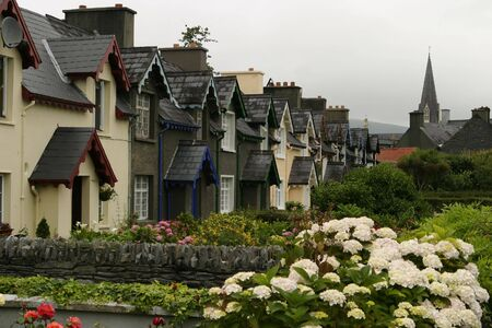 A row of cottages in Ireland
