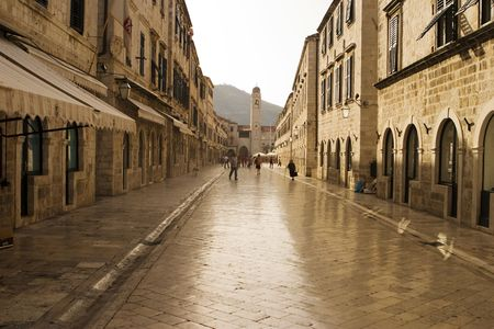 The Strada in Dubrovnik is the main shopping street photo