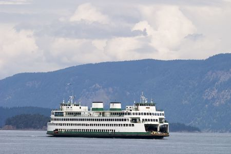 washington state: A ferry boat on a Washington State waterway is used to transport cars and passengers.