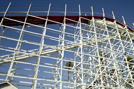 Roller coaster structure with the structural suport details.