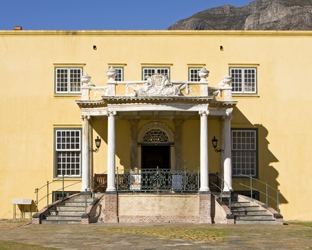 The Kat Balcony in the Castle of Good Hope in Cape Town, South Africa is an outstanding feature of a dividing wall that separates the inner courtyard of the fortress. The original balcony was built in 1695, then rebuilt in its present form between 1786 an Stock Photo - 12147728