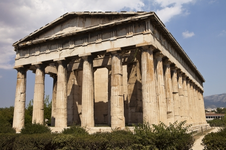 goddesses: The Temple Of Hephaestus in the Agora park in Athens