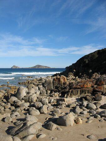 wilsons promontory: Rocky australian coastline Stock Photo