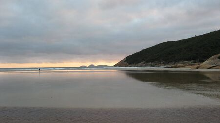 wilsons promontory: Lone Figure on beach at sunset