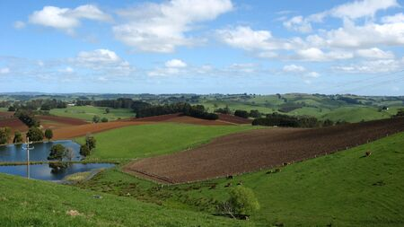 ploughed fields and pasture photo