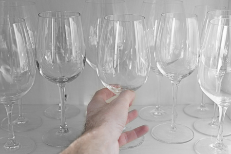 ワイングラスを選択します。 写真素材