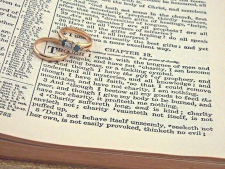 king james: wedding rings bible 1 Corinthians 13:4 King James Version