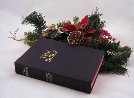revised standard version bible christmas greenery Stock Photo - 777545