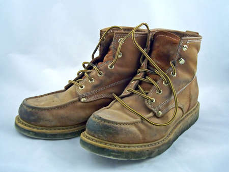 a pair of steel toe work boots Stock Photo - 777065