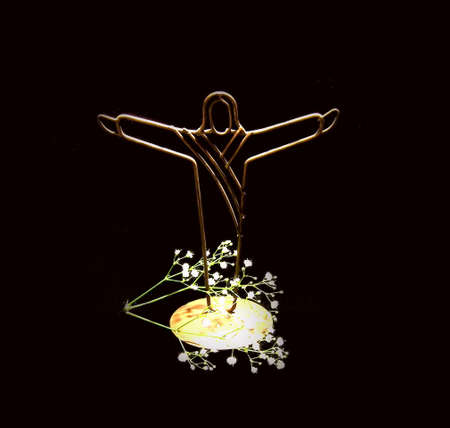 Jesus Christ decoration with babys breath Stock Photo - 777063