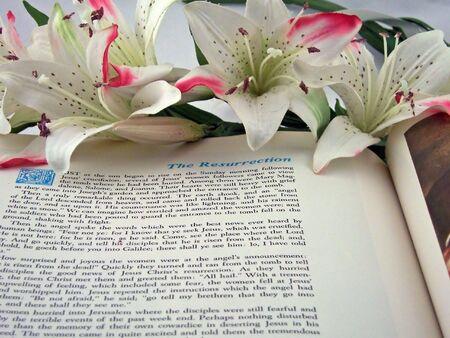 tumbas: Santa Biblia abierta a la resurrecci�n de Cristo