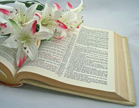 holy bible opened to the resurrection of christ