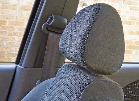 interior view of an automobile bucket seat