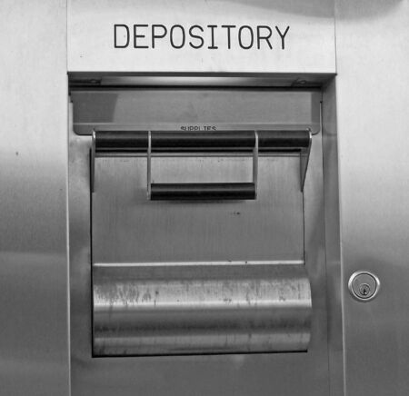 a night depository at a local bank photo