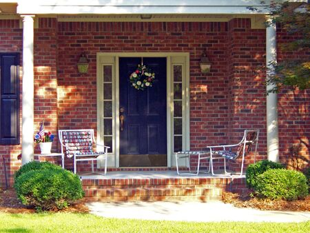a beautiful southern carolina outside front porch Stock Photo - 1342127