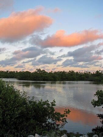 ding: sunset on Ding Darling Wildlife Refuge Florida