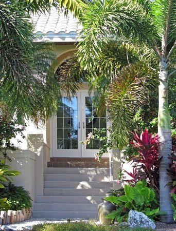 아름 다운 단일 주거 남부 미국 해변 집 스톡 콘텐츠