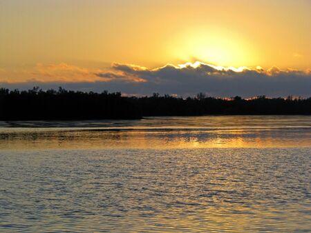 ding: sunset on Ding Darling Wildlife Refuge Florida