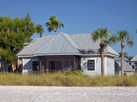 oceanfront: oceanfront residential home on beautiful Florida beach Stock Photo