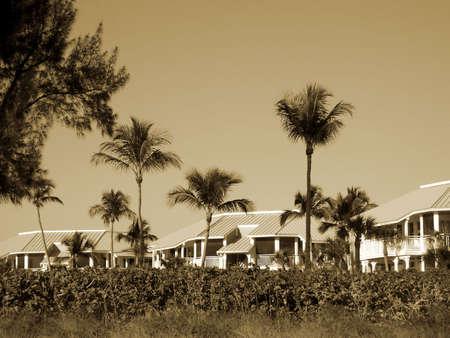oceanfront: oceanfront condo complex on the Florida beach Stock Photo