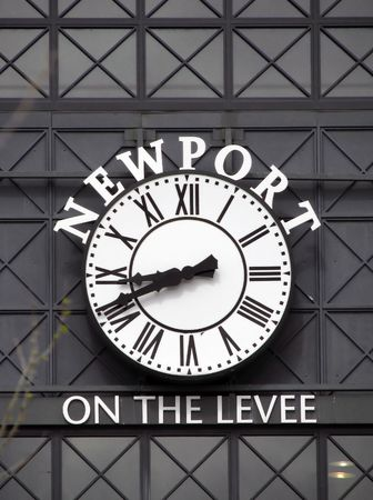 kentucky: big clock Newport Kentucky on the Levee Stock Photo