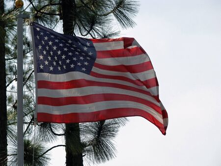 American flag blowing in the gentle breeze Stock Photo - 3265317