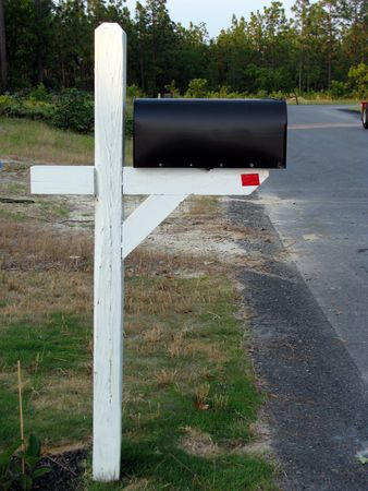 postmaster: mailbox and pole in new community subdivision