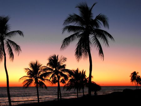 a beautiful sunset on Sanibel Island Florida Banque d'images