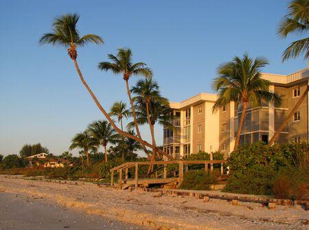 condo construction: beautiful condo complex on the Florida beach