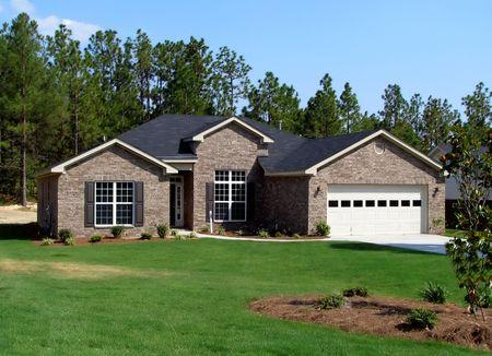 nieuwe familie thuis in mooie Gemeenschap  Stockfoto