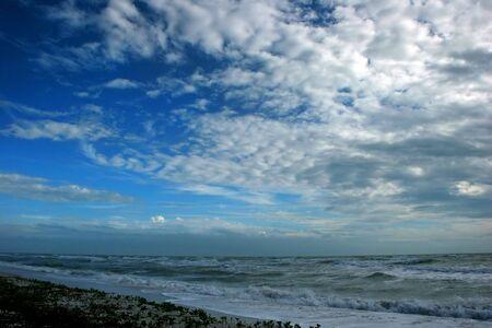 afternoon stormy beach waves clouds Sanibel Florida