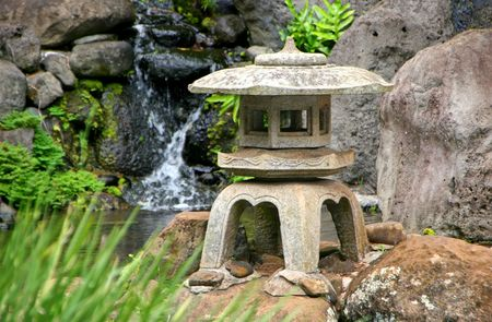 Japanese Lantern in Kepaniwai Park and Heritage Gardens photo
