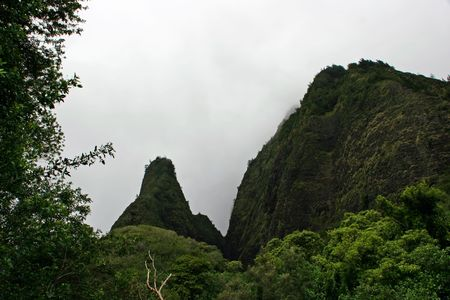phallic: Parque de estado del Valle de aguja Iao Wailuku Maui Hawaii