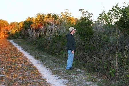 ding: Man Sightseeing Ding Darling Wildlife Refuge Florida