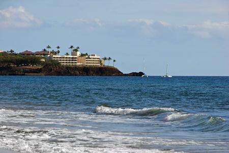 Beautiful Tropical Beach Shoreline Maui Island Hawaii photo