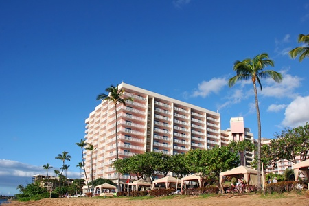 Beautiful Tropical Beach Resort Shoreline Maui Island Hawaii
