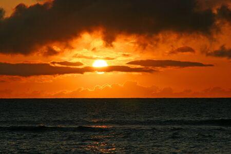 Beautiful Tropical Ocean Sunset Maui Hawaii Island Stock Photo - 12947307