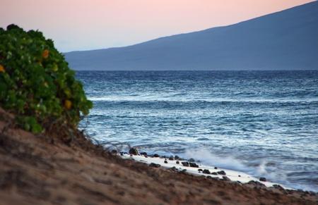 A Beautiful Ocean Sunset Maui Hawaii Island photo