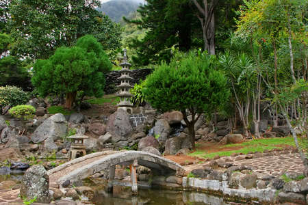 Japanese Garden in Kepaniwai Park and Heritage Gardens Stock Photo - 13468967