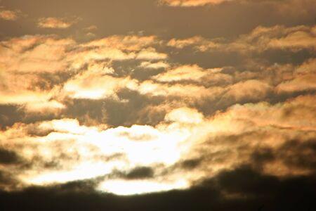 billow: Beautiful Cloud Formations at Sunrise Kauai Hawaii