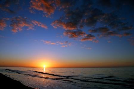 A Beautiful Sunrise On Sanibel Island Florida Stock Photo