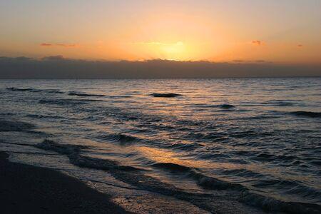 sunup: A Beautiful Sunrise On Sanibel Island Florida Stock Photo