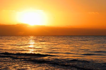 dawning: A Beautiful Sunrise On Sanibel Island Florida Stock Photo