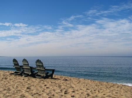 adirondack chair: Adirondack Beach Chairs on Monterey Bay Beach California