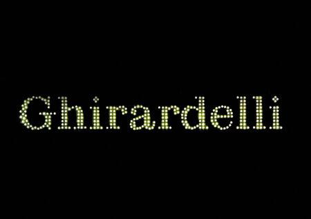 SAN FRANCISCO, CA - NOVEMBER 17: Ghirardelli Sign at Night in Historical Ghiradelli Square November 17, 2012 in San Francisco, California