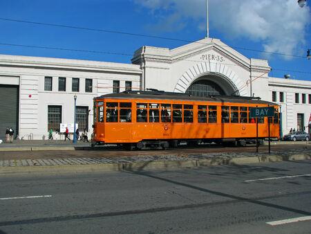 municipal editorial: SAN FRANCISCO, CA - NOVEMBER 18: Cable Car parked at Pier 35 2012 Editorial