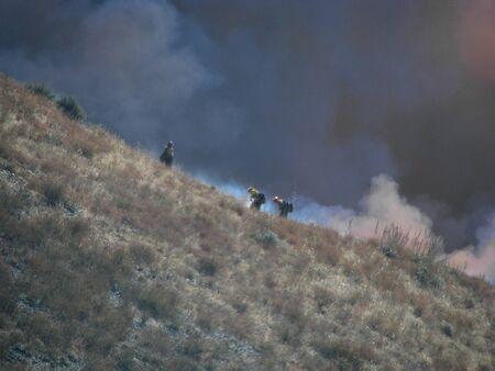 bernardino: SAN BERNARDINO CALIFORNIA - NOVEMBER 05: San Bernardino County California Devore Brush Fire 2012